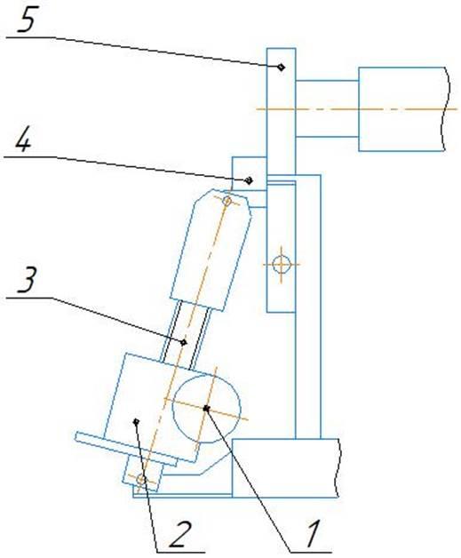 Механизм наклона откидной опоры листогиба ИБ 2420