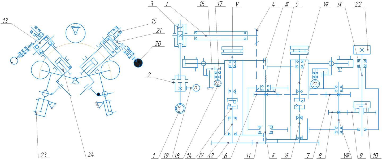 Кинематическая схема ИБ3230