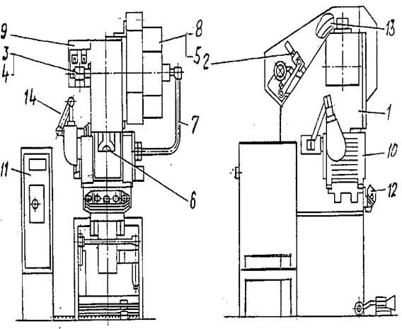 Общий вид  КД2019Г с обозначением составных частей