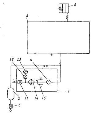 Схема пневматическая принципиальная КД 2118Г