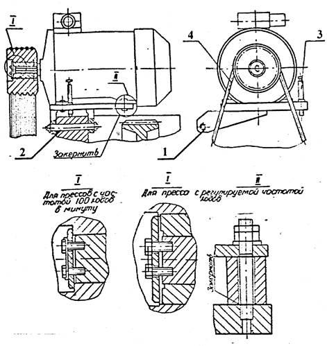 Привод пресса однокривошипного механического КЕ2130