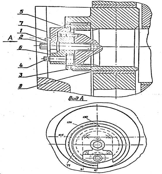 Механизм регулировки величины хода ползуна КЕ2130