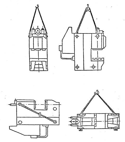 Схема транспортировки  пресса КЕ2130
