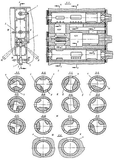 Буферное устройство и окна воздухонаполнения молота МА4129А