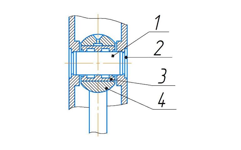 Крепление пальца верхней головки шатуна молота МА4132