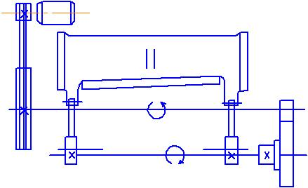 Схема привода ножниц МНГ-3Х1300