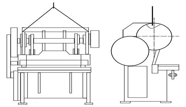 Схема строповки ножниц кривошипных листовых  Н3122