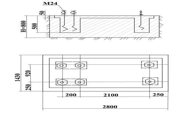 Монтажный чертеж ножниц кривошипных листовых  Н3122