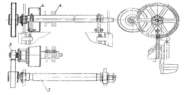 Приводной и коленчатый валы ножниц НА3218