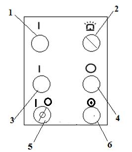 Пульт управления ножниц   гильотинных пневматических  НА3122