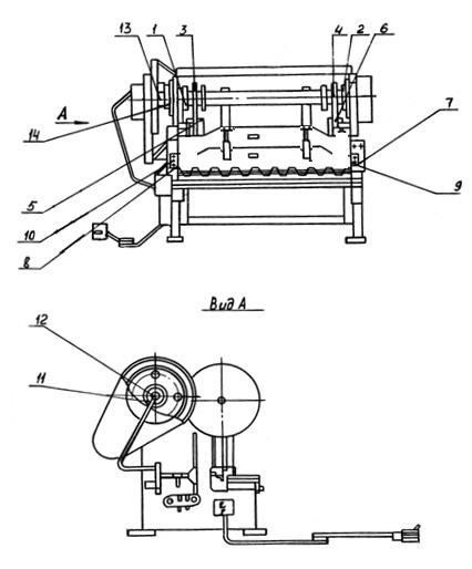 Схема смазки ножниц НА3122