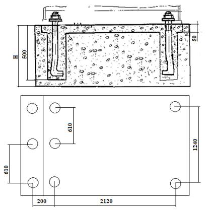Строительное задание на фундамент под ножницы   НА3122