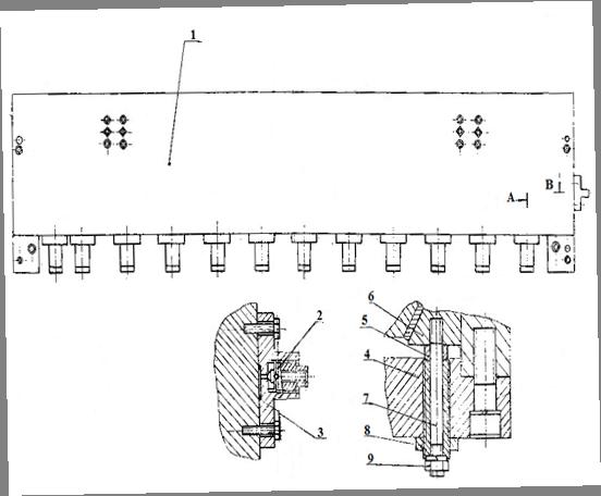 Балка прижимная кривошипных ножниц НА3218