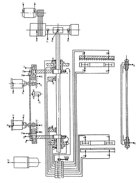 Схема смазки ножниц кривошипных  НА3218