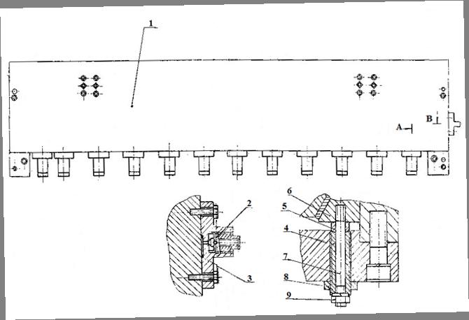 Балка прижимная гильотинных ножниц НА3221