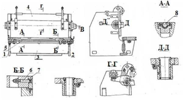 Станина ножниц гильотинных НА3223