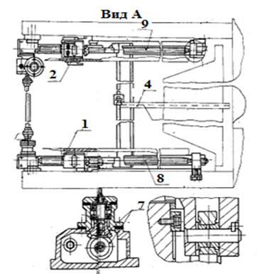 Привод заднего упора  ножниц гильотинныx НА3223