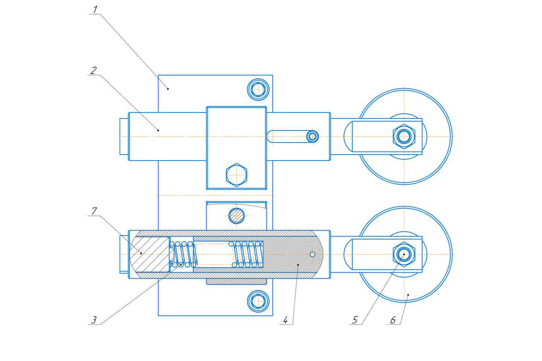 Механизм поджима листа к боковому упору ножниц НА3225