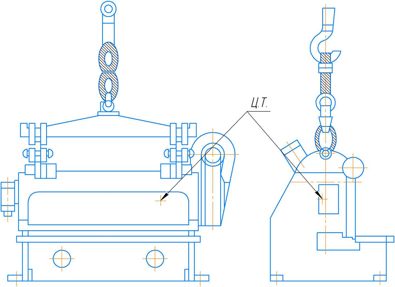 Схема строповки ножниц НА3225