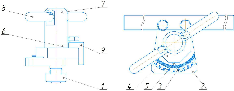 Угловой упор ножниц НА3225