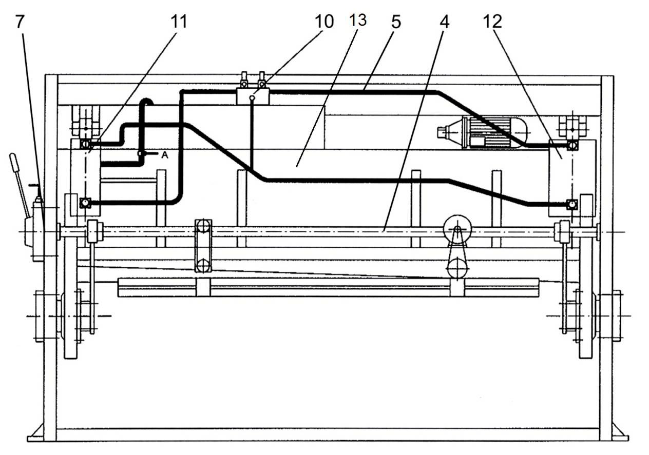 Cоставных частей  гидравлических гильотинных ножниц НГ3320.25