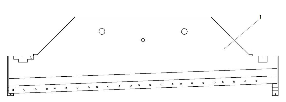 Ножевая балка гильотинных  гидравлических  ножниц НГ3320.25
