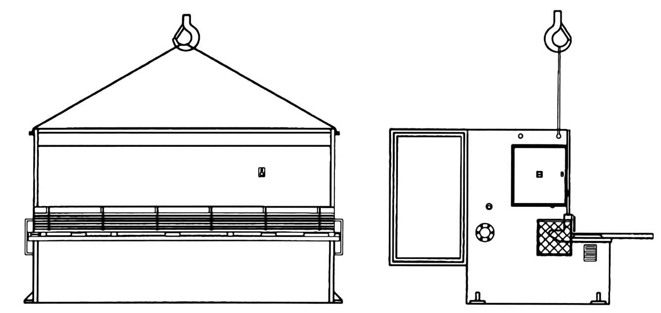 Схема транспортирования гильотинных ножниц НГ3320.25