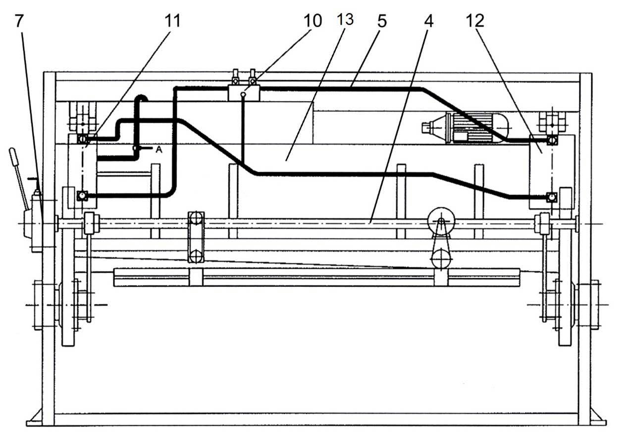 Cоставных частей  гидравлических гильотинных ножниц НГ3321.25