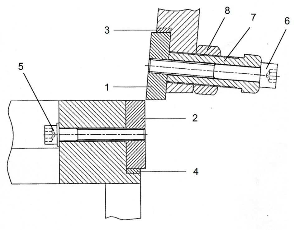 Установка ножей гильотинных    ножниц НГ3321.25