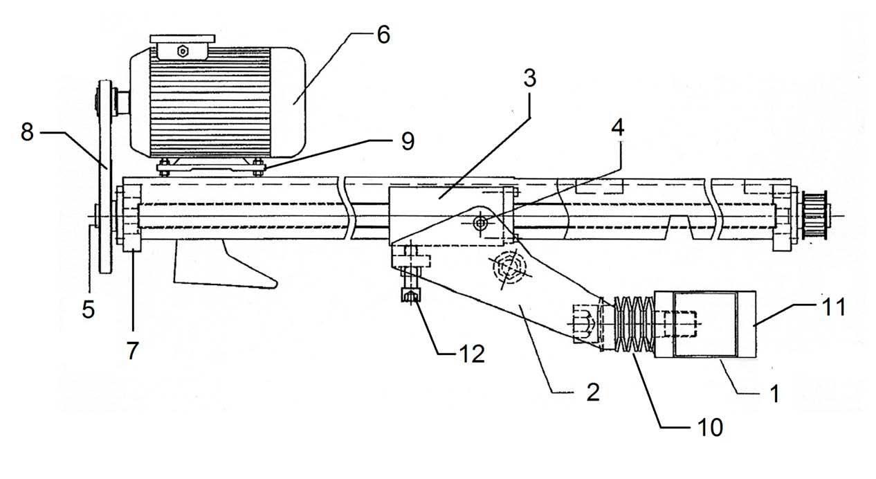 Задний упор гильотинных  ножниц НГ3321.25