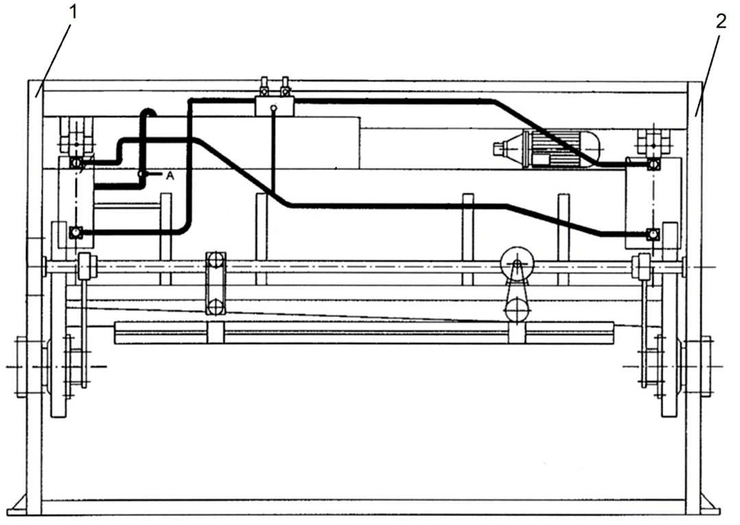 Станина гидравлических гильотинных ножниц НГ3322.25
