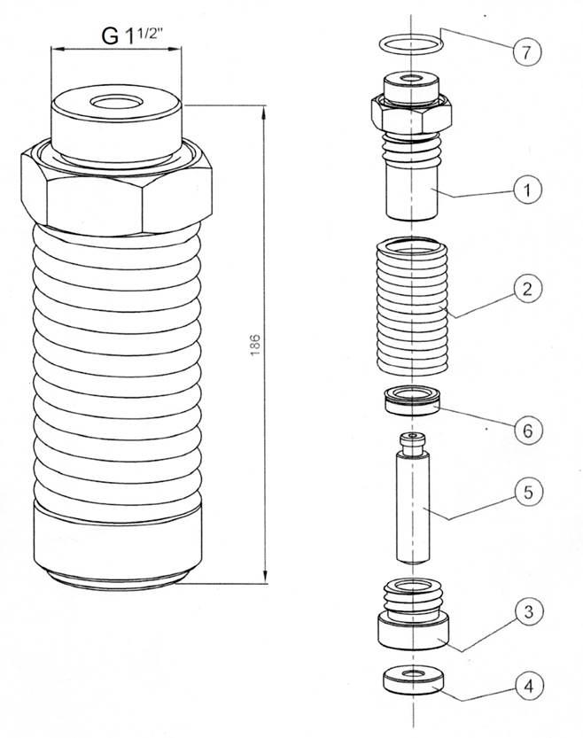 Гидравлический прижим гильотинных  гидравлических  ножниц НГ3322.25