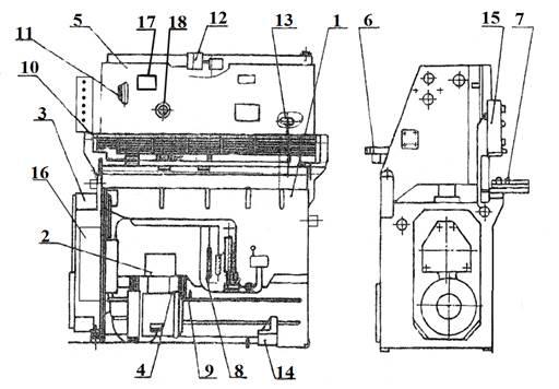 комплект поставки ножниц гильотинных НК3416