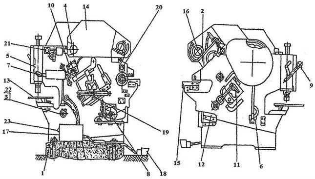составные части пресс-ножниц НВ5223