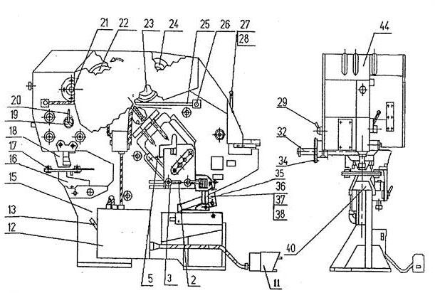 Основные составные части пресс-ножниц комбинированных   НВ5224