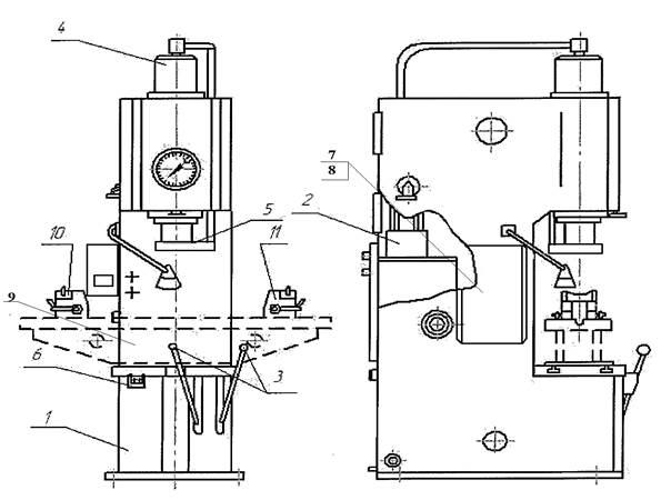 Пресс гидравлический П6326Б