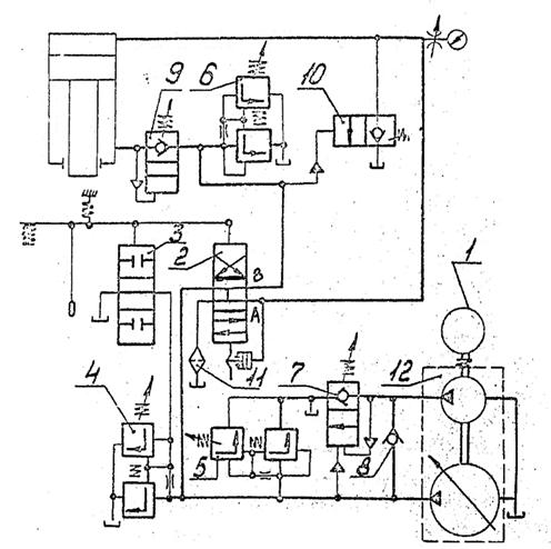 Гидросистема пресса П6326Б, П6326