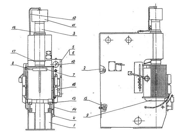 Пресс гидравлический одностоечный П6332Б