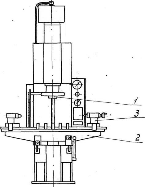 Общий вид гидравлического пресса П6332Б  с бойком и правильным столом