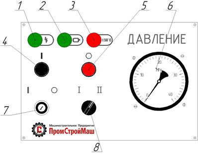 Панель пульта управления пресса ПБ7328