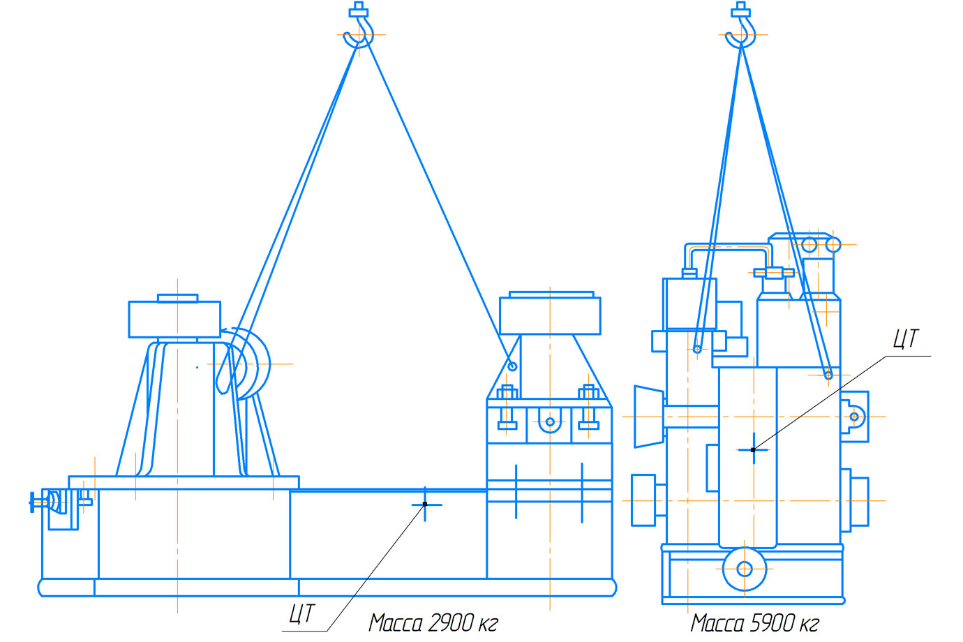 Схема транспортирования пресса гидравлического ПБ7730 для обжима буртов бандажей усилием 1000 кН