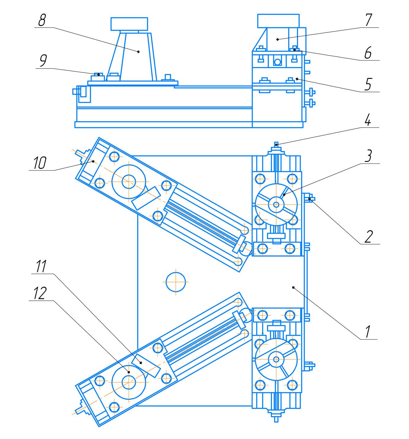 Ролики направляющие пресса гидравлического ПБ7730 для обжима буртов бандажей усилием 1000 кН