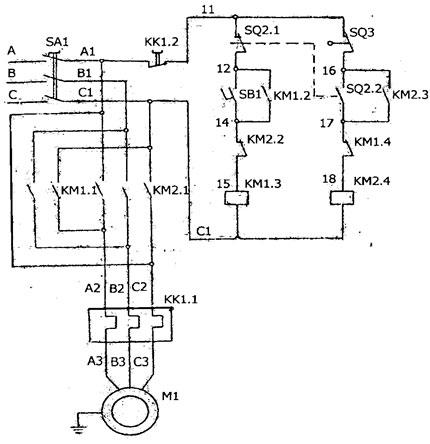 Схема электрическая станка