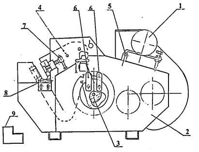 Устройство станка для резки арматурной стали СМЖ-322