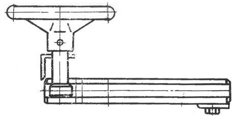 Задний упор кривошипных ножниц СТД9А