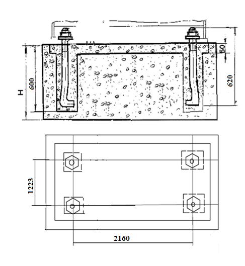 Монтажный чертеж  ножниц  гильотинных кривошипных СТД9А