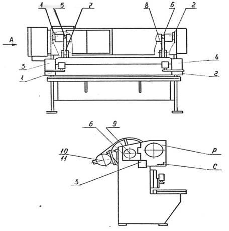 Схема смазки ножниц СТД9А