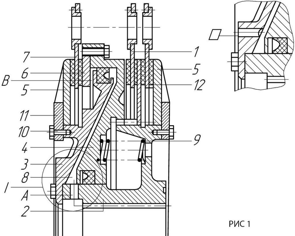 Муфта-тормоз УВ3141 чертёж